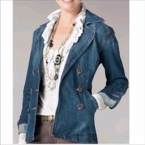 CAbi Jeans Double Breasted Denim Jacket